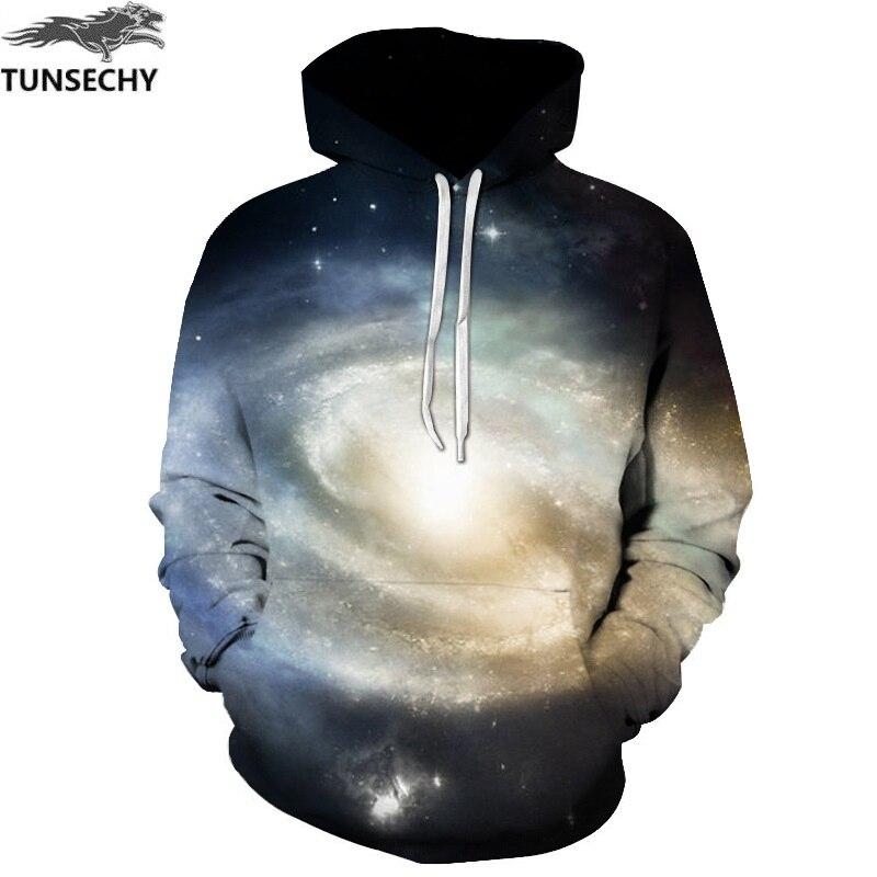 TUNSECHY Space Galaxy Hoodies Men/Women Sweatshirt 3D Brand Clothing leisure Hoodies & Sweatshirts Wholesale and retail