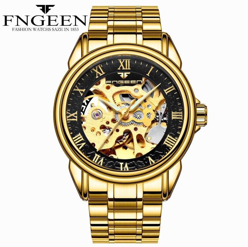 FNGEEN Luxury Brand Mechanical Men Watches Skeleton Waterproof   Watch Men Clock MaleFNGEEN Luxury Brand Mechanical Men Watches Skeleton Waterproof   Watch Men Clock Male