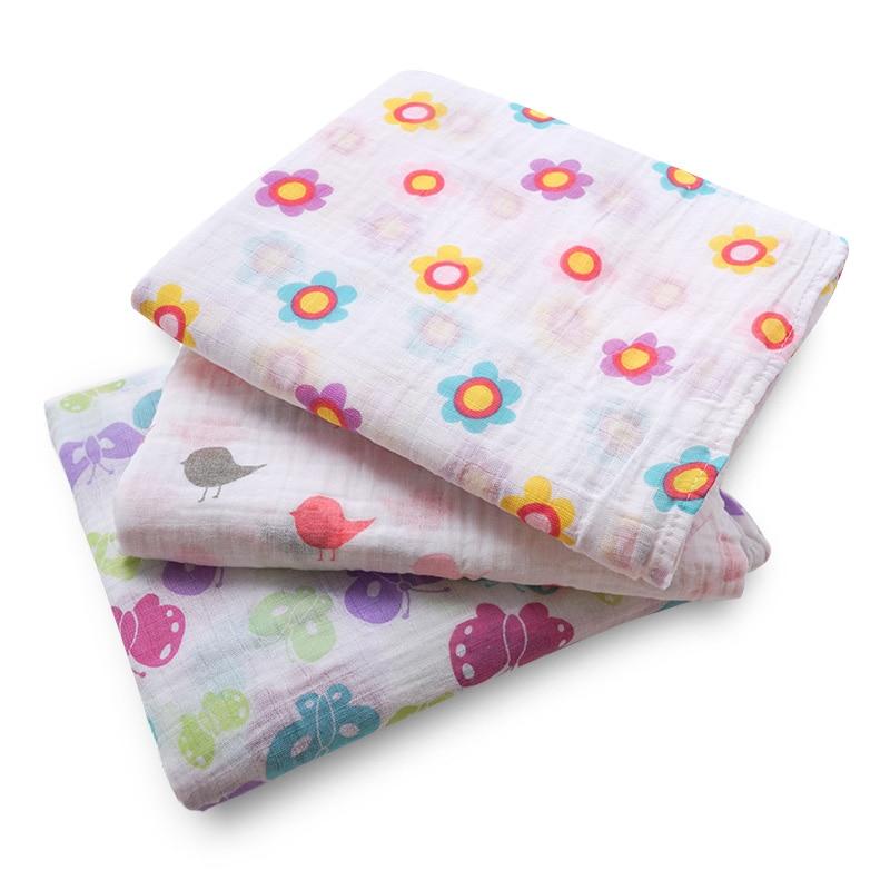Muslin Life Cotton Baby Swaddles For Newborn Baby Blankets Cororful Cartoon Gauze Bath Towel Dinosaur Pattern Blankets For Boy