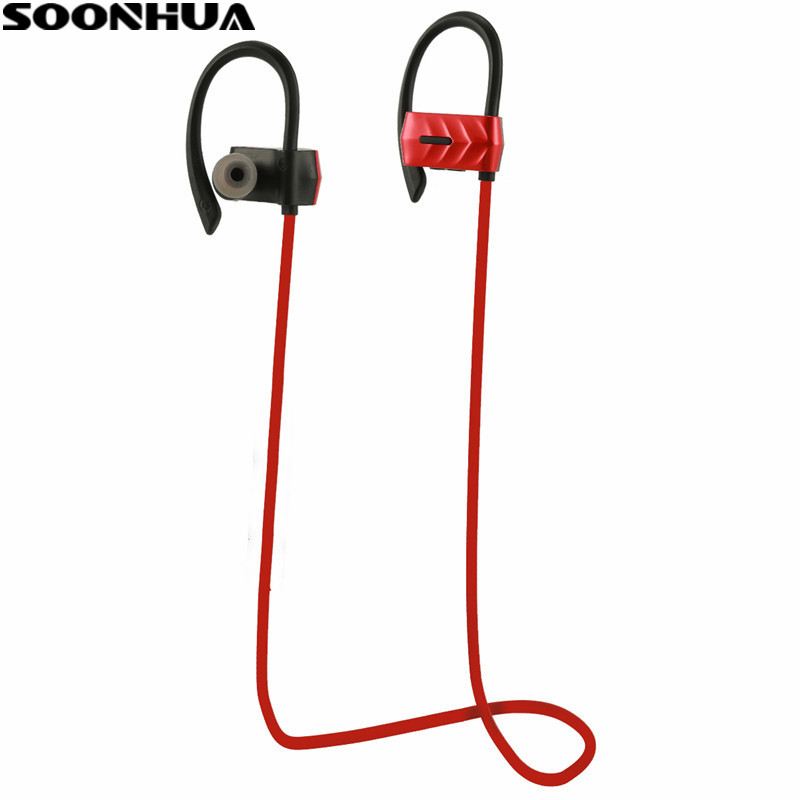 New Arrival SOONHUA A10 Wireless Bluetooth 4.1 Sport Earphone Stereo Super bass Headset With HD Handsfree Mic Headphone fw1s 2016 new arrival q9 wireless bluetooth 4 1 stereo earphone sport running studio free shipping