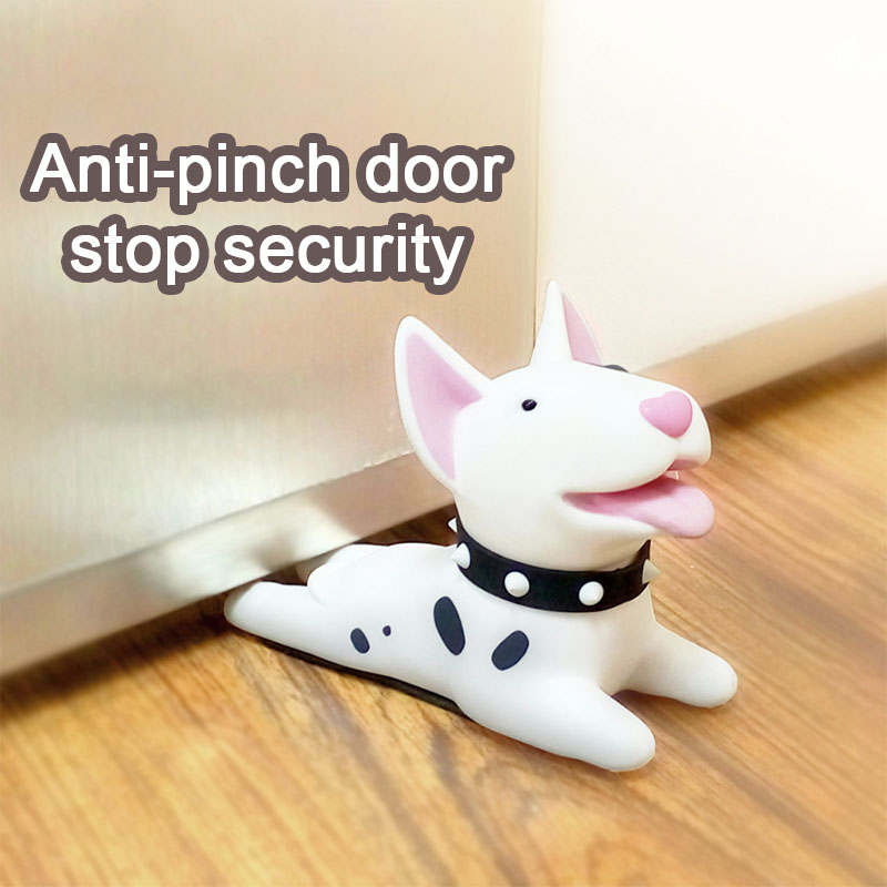 Cartoon Dog Door Stopper Holder Bull Terrier PVC Safety Children Protection Safety Creative Wedge Doorstop Baby Care Furniture