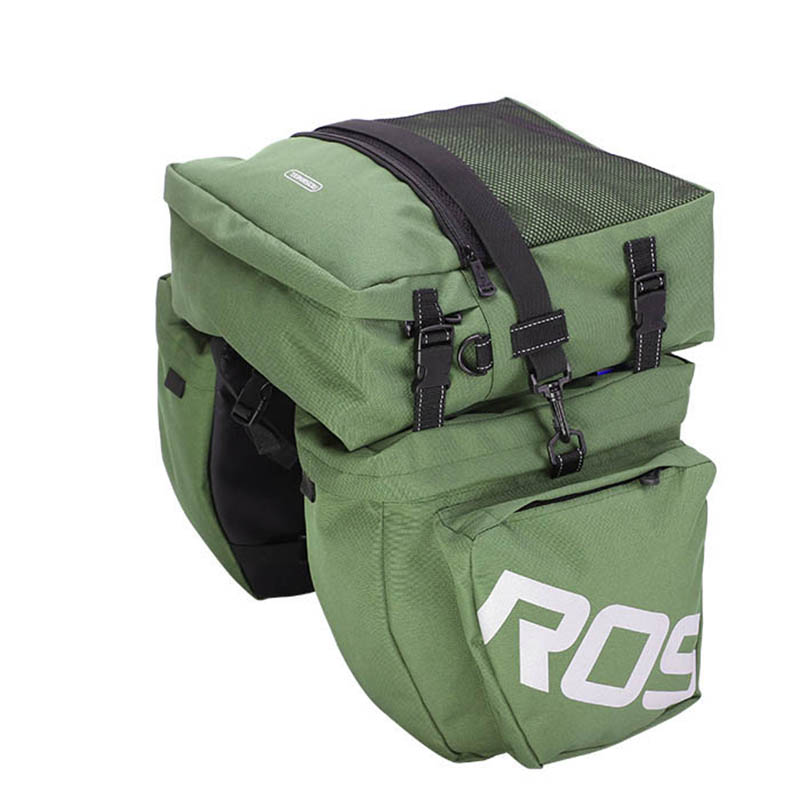 Bike Bag 37L Bicycle Carrier Rear Rack Trunk Cycling Luggage Back Seat Pannier Cycling Saddle Storage roswheel 50l bicycle waterproof bag retro canvas bike carrier bag cycling double side rear rack tail seat trunk pannier two bags