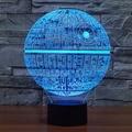 Lâmpada Led 3d para Table Desk Guerra Estrela Clone Troopers Luz da noite Mudança de Cor Da Lâmpada de Iluminação Casa Dom Casa Decoran acessório
