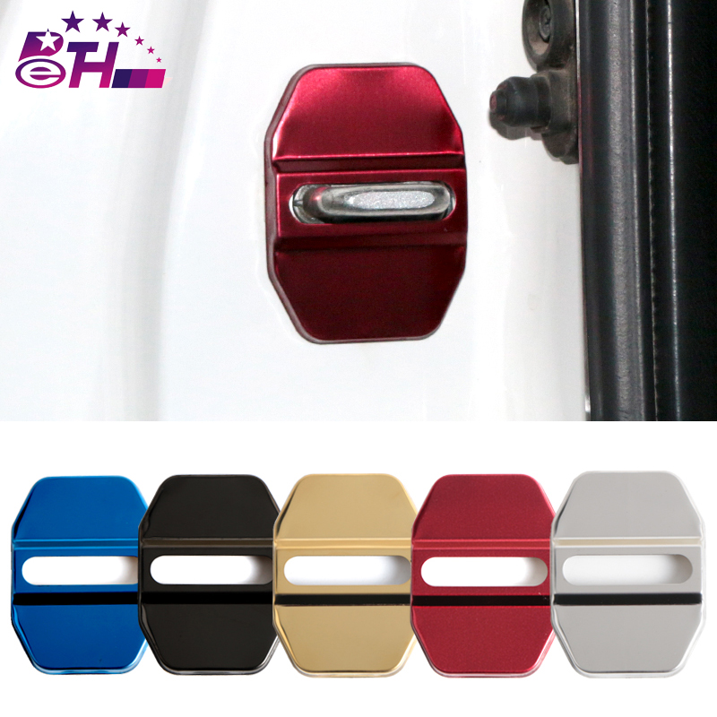 Car Styling Car Door Lock Covers Decoration Case For Mercedes Benz GLK GLA C E GLC Class AMG Auto Car-Styling 4pcs /lot decoration trim car door window lift cover armrest button decoration for mercedes benz gla glk cls ml300 320 350 450 500 gl350