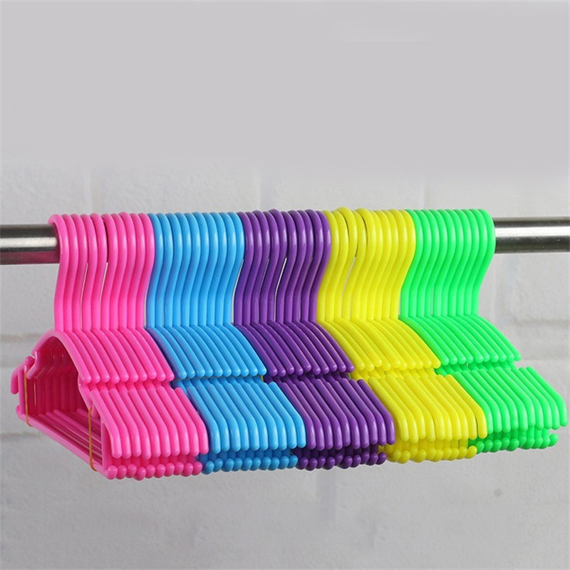 10pcs/Lot Baby Clothes Hangers Plastic Outdoor Drying Rack ...