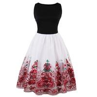 Sisjuly Women S Vintage Red Color Dress Sleeveless Knee Length O Neck One Piece Dress Lady