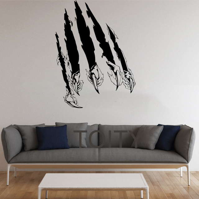Claw Scratches Stickers Wall Monster Vinyl Decals Nursery Decor Home Room Interior Design Art Murals For