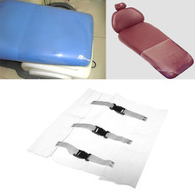 Plastic Clear Dental Chair Mat Cushion Foot Pad Dental Seat Unit Dustproof Cover Protector With Elastic Bands Clinic Supply(China)