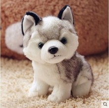 Hot Free shipping simulation 18cm about 7 super cute little puppy dog huskies doll plush toys for kids gift New