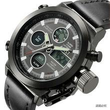AMST Marca militar hombres de los relojes de Doble Pantalla impermeable Diver Reloj Militar reloj de pulsera de Cuarzo relojes de pulsera de cuarzo-reloj AM3003
