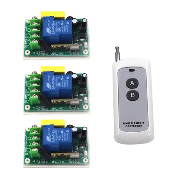 AC 220V Big Relay Remote Control Switch 1CH 30A Remote Switch Long Range 300m Wireless Switch SKU: 5234 dc24v remote control switch system1receiver