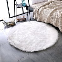 Hairy RoundCarpet Sheepskin Chair Cover Soft Bedroom Faux Mat Seat Pad long Fur Fluffy Area Rugs Washable Artificial Textil 006
