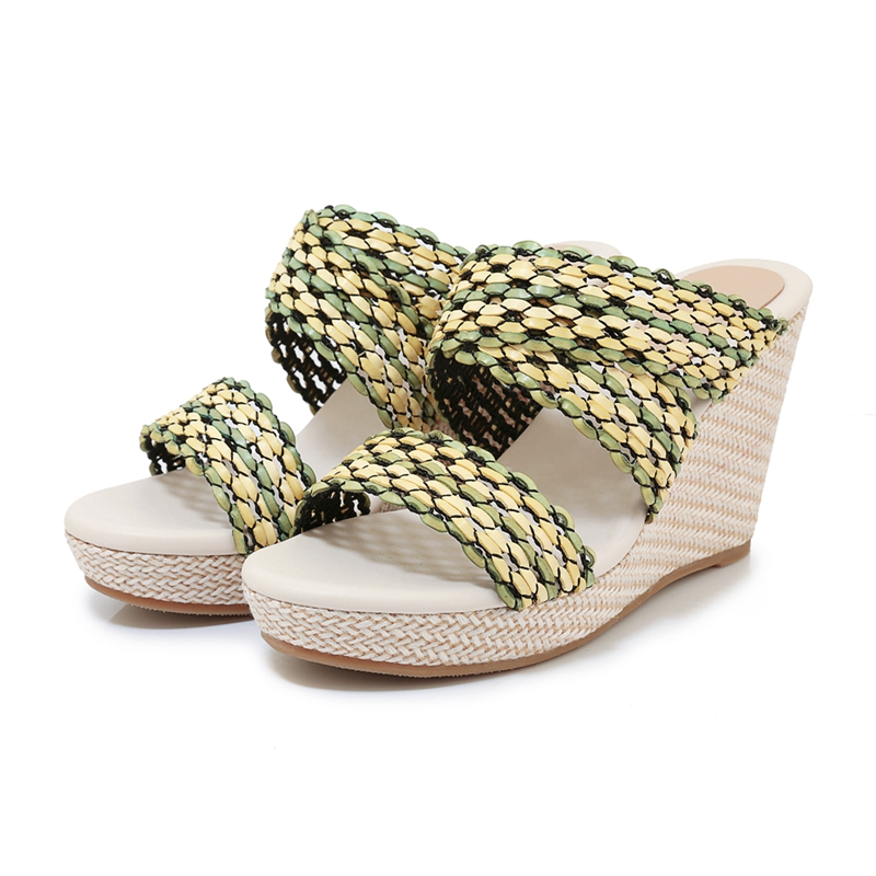 ENMAYLA 2019 New Arrival Women Super High Platform Slippers Mixed Colors Summer Outside Womens Shoes Size 34 40 LY2359 in Slippers from Shoes