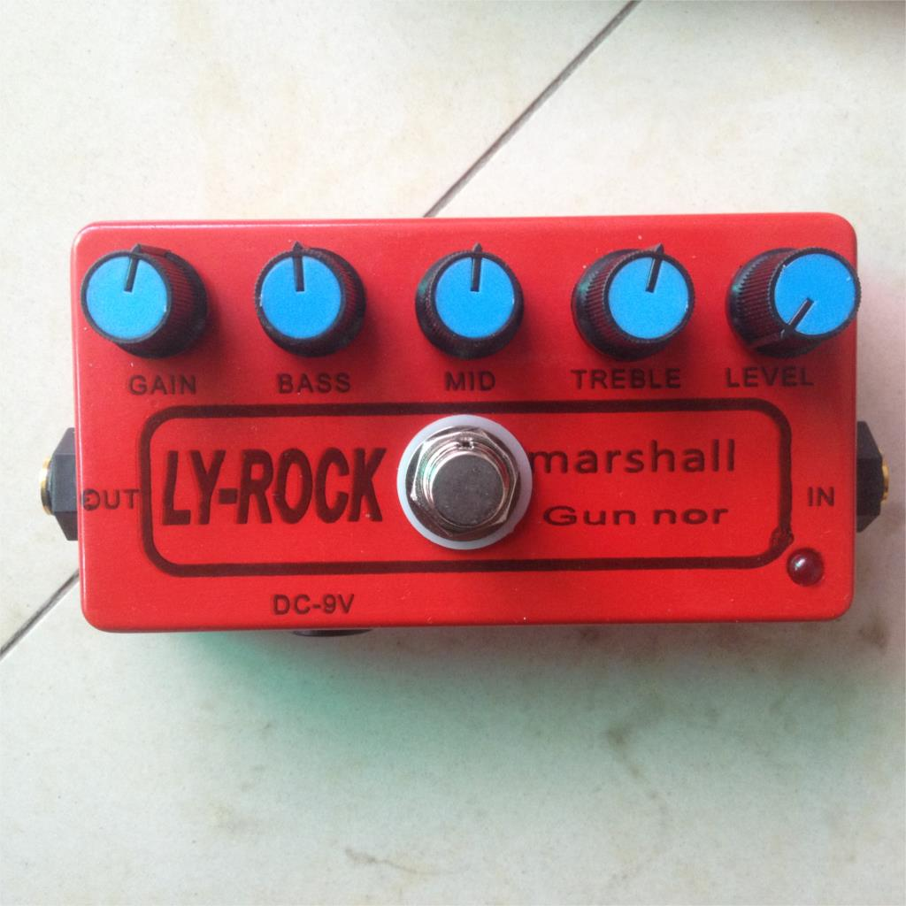 Bricolage MOD Marshall Guv ni pédale distorsion Overdrive guitare électrique Stomp boîte effet amplificateur ampli acoustique Guvnor Gv-2