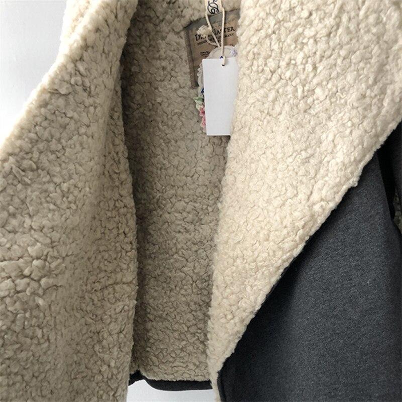 revers Polaire Coréenne hiver Chaud De Mode xl Xs l Nouvelle Version m Agneau Top Manteau s 2018 Cardigan Printemps Lâche Femmes W16 v74qIpp
