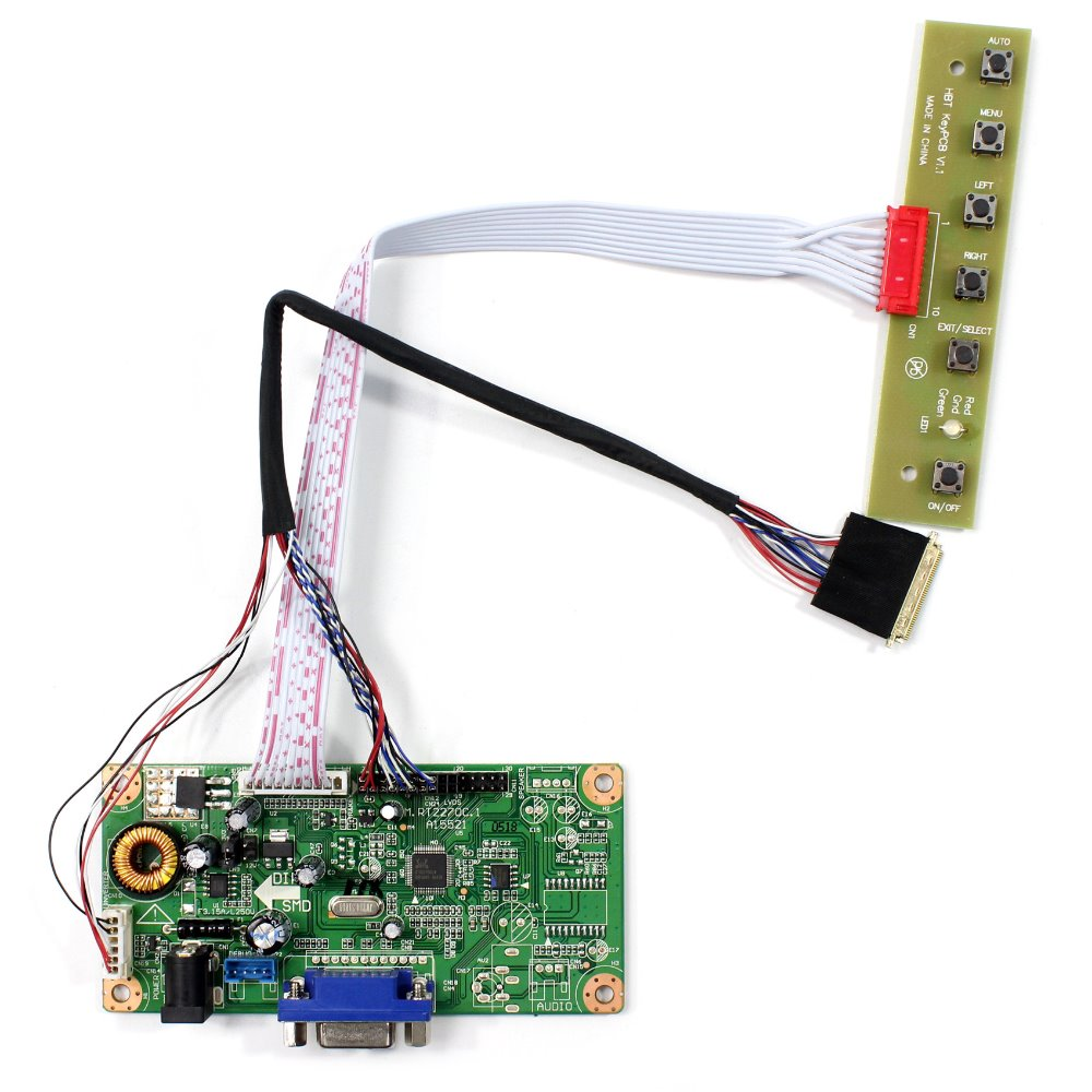 LCD Controller Board With VGA Source Work For 15.6 B156XW02 LTN156AT17 LTN156AT02 LP156WH2-TL LP156WH4-TL 1366x768 LCD Screen hdmi vga 2av audio lcd controller board for 15 6inch 1366x768 ltn156at17 b156xw02 lcd screen