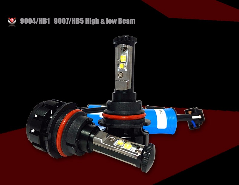 12000LM Super Bright Car LED Headlight Kit H4 HB2 9003 H13 9007 Cree Chips Replace Bulb Anti-Dazzle Beam 3000K 4300K 6000K (5)