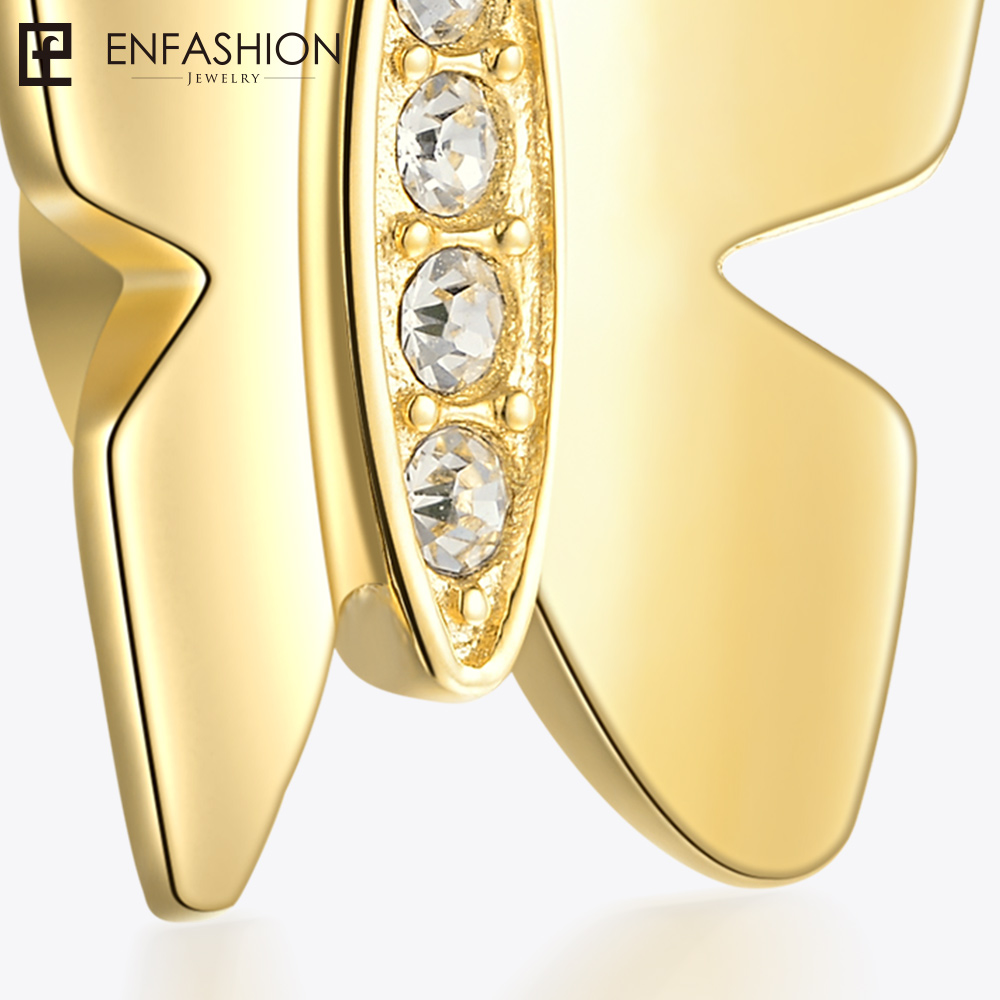 Enfashion играть серии Бабочка винт Кристалл Шарм Подвеска Нержавеющаясталь золото Цвет Для женщин Подвески DIY ювелирных CF187010