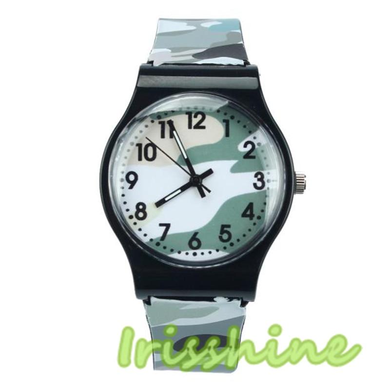 Irissshine Barn titta på Camouflage Watch Quartz Armbandsur för - Barnklockor - Foto 3
