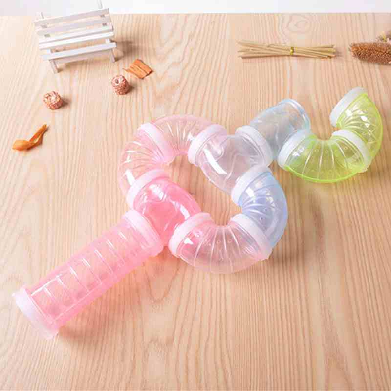 2018 New Year Hamster Accessories External DIY Pipeline Tunnel Fittings Color Blue White Pink Green Hamster Tunnel ...