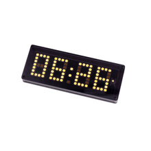 Car three in one time temperature voltage Multi function LED dot matrix clock Home modification DIY