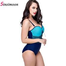 Women Lattice Bathing suit New Grid One Piece Bathing suit Plaid Swimwear Plus size Beach wear Thong Push up Monokini Bodysuit