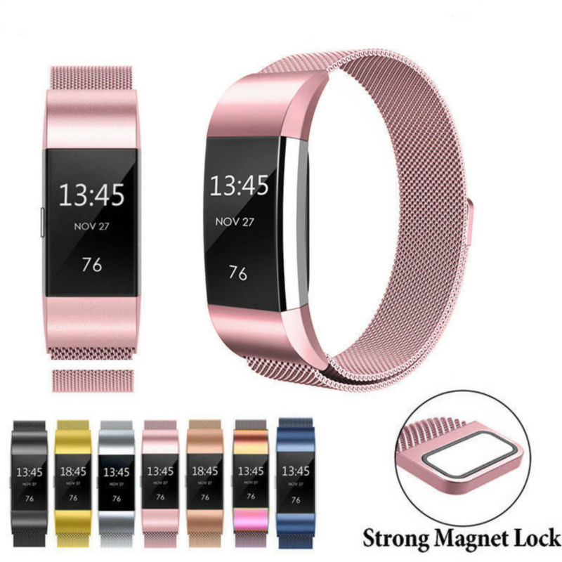 Magnetic Milanese Stainless Steel Watch Band Strap For Fitbit Alta / Alta HR lnop nylon rope survival strap for fitbit alta alta hr replacement band bracelet wristband watchband strap for fitbit alta