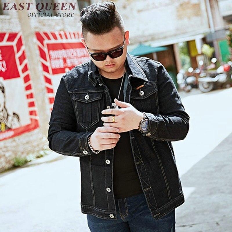Джинсовая куртка для мужчин 2018 Осенние новые куртки модные джинсы пальто брендовая одежда мужская куртка бомбер Большие размеры KK1841 H - 3