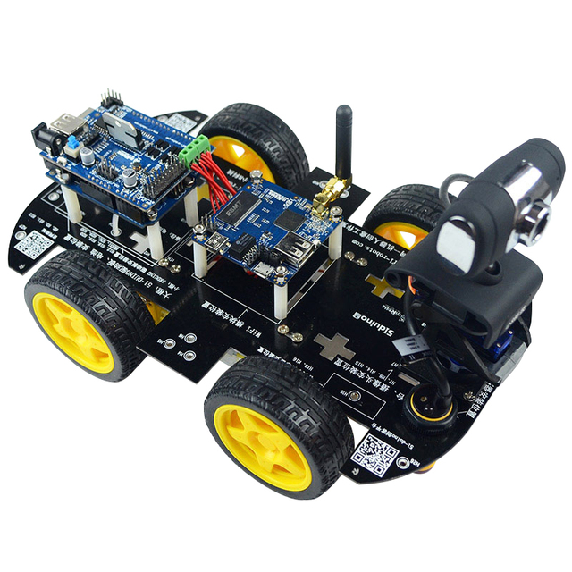 US $134 85 7% OFF Wifi Smart Car Robot Kit for arduino iOS Video Car Robot  Wireless Remote Control Android PC Video Monitoring-in Integrated Circuits