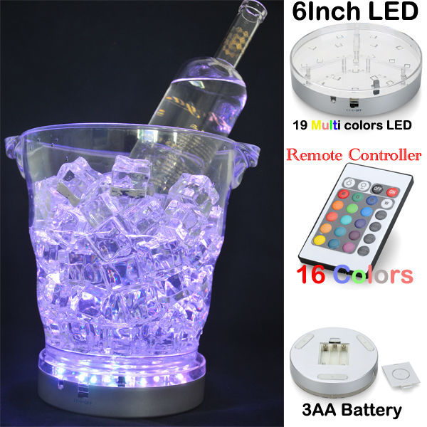 20pcs*AA battery Remote Controlled Ice Bucket Light Centerpiece Lighting LED Under Vase Base Light for Wedding table Decor
