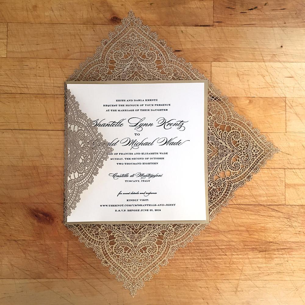 Wedding Invitations Stores: Aliexpress.com : Buy Lace Wedding Invitation Gold Laser