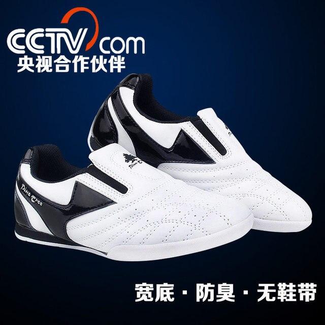 premium selection 48a13 0ffc3 Pinetree Blanc bande respirant Chaussures De Taekwondo Arts Martiaux  Baskets enfants chaussures de sport Professionnel de