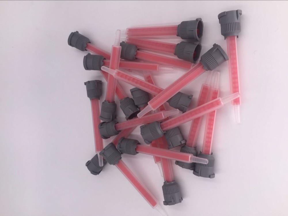 25PCS TZ FBX516L 10 1 FMB5 16L static mixing tube needle AB glue nozzle mixing head square mixer adhensive dispensing nozzle in Tool Parts from Tools