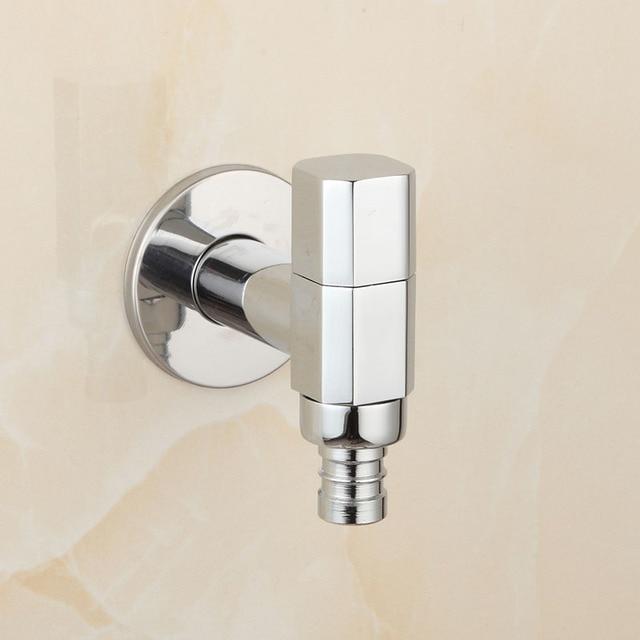 Brass Chrome Garden Faucet Washing Machine Basin Faucets Cold Water ...