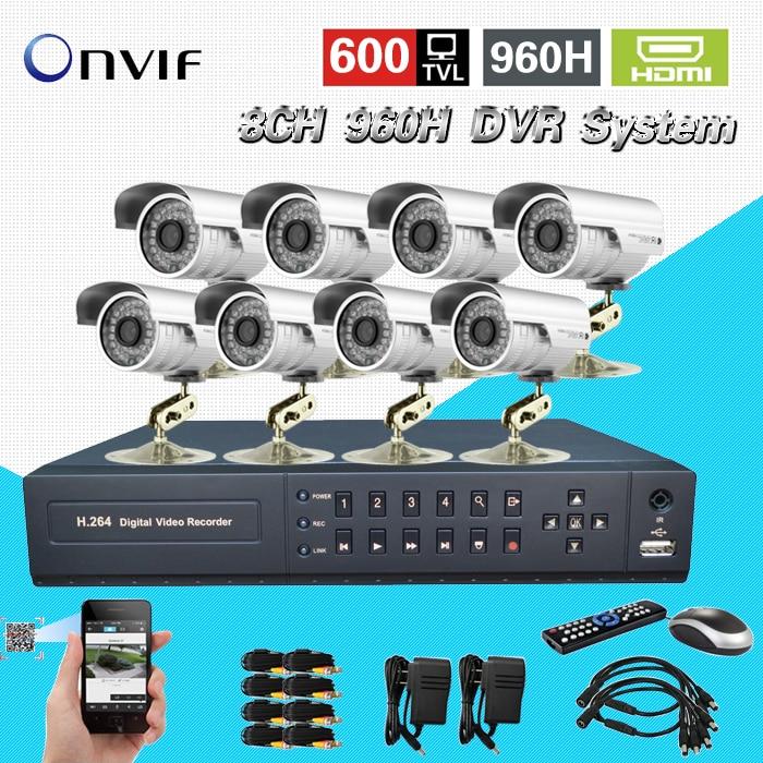 TEATE Security 8ch CCTV 600TVL Waterproof Outdoor font b Camera b font Network full 960H D1