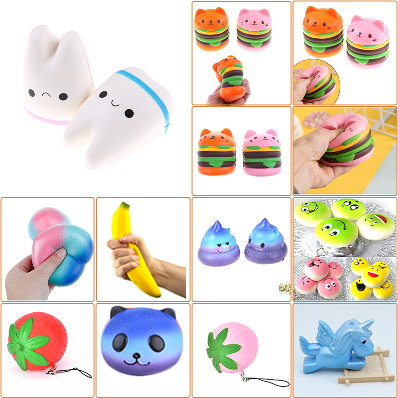 Gags & Practical Jokes Novelty & Gag Toys 100% True Pu Mini Decompress Cute Cartoon Emoil Cat Toys Squeeze Soft Slow Rising Cream Anti Stress Reliever Toys Kids Healing Gift S2