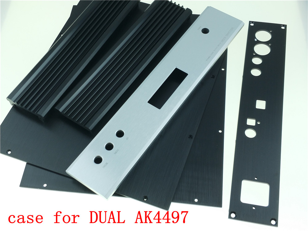 aluminum chassis case for DUAL AK4497 DAC DIY audio