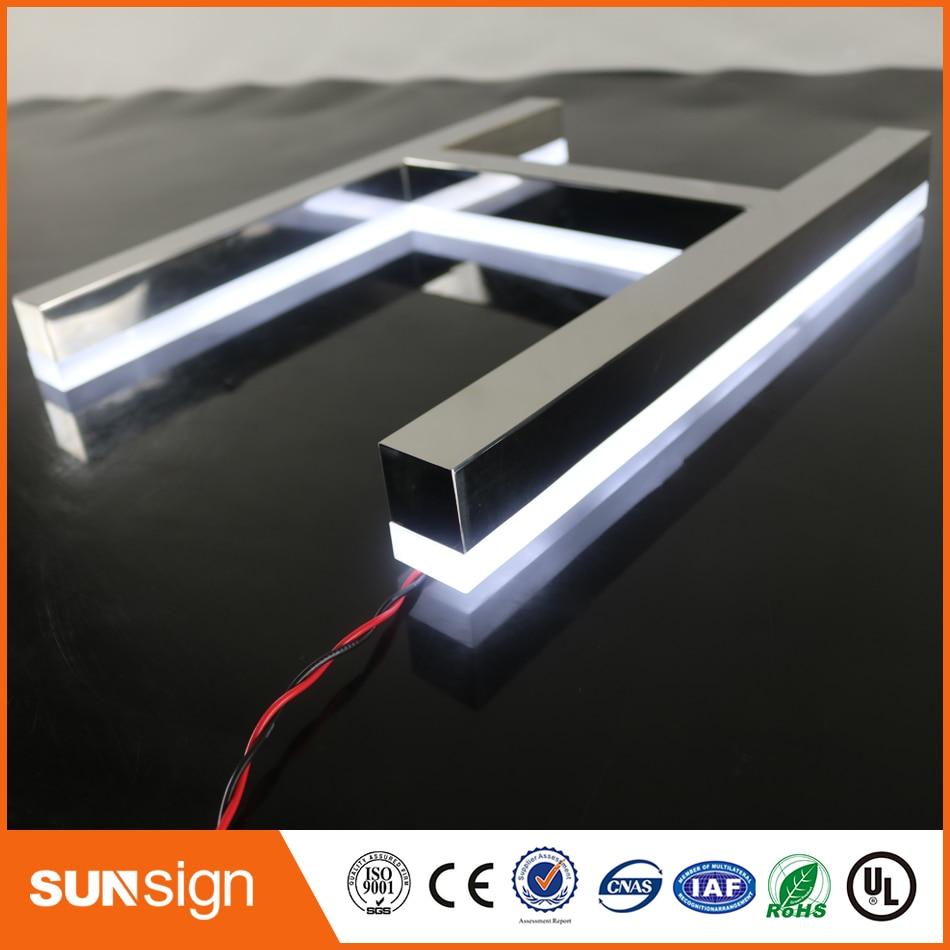 popular backlit sign letters buy cheap backlit sign With plastic channel letters
