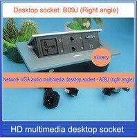Office conference multimedia socket /hidden /VGA,3.5 audio,network,RJ45 cable Information outlet box / desktop socket / B09J