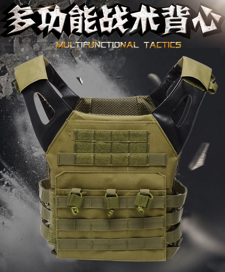 Outdoor JPC Tactical Vest Amphibious Multi Pockets Military Plate Carrier Vest Airsoft Paintball Combat Molle Hunting Clothes yuetor outdoor hunting men airsoft combat assault plate carrier vest colete tatico militar tactical molle multicam military vest