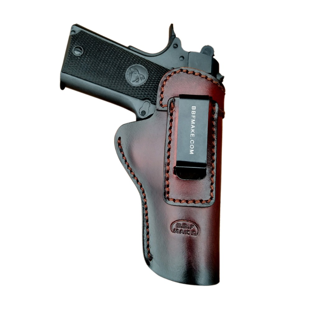 B.B.F MAKE Handmade IWB/OWB Gun Holster Leather Case For: Colt 1911 Holsters Pistol Pistolet Pouch With Belt Clip Accessoires