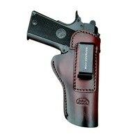 B.B.F MAKE Handmade IWB/OWB Gun Holster Leather Case For: Colt 1911 Holsters Pistol Pistolet Pouch With Belt Clip Accessoires