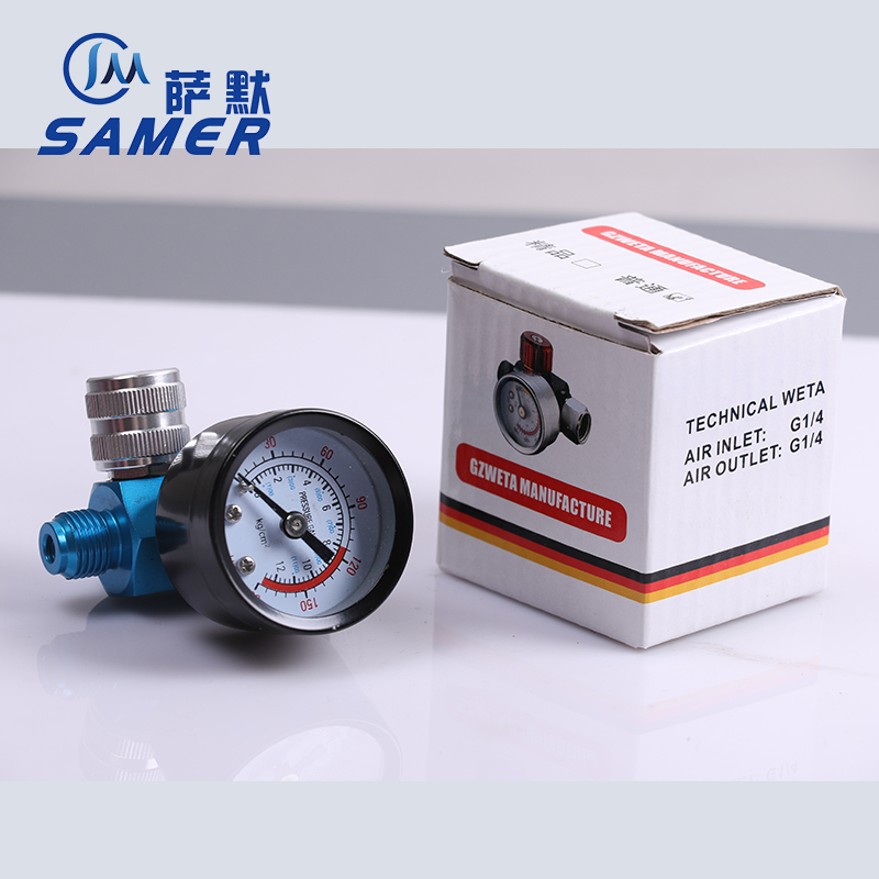 SAMER lanhei02 Precision pressure regulator with display table suitable for spray gun air inlet G1/4 air outlet G1/4