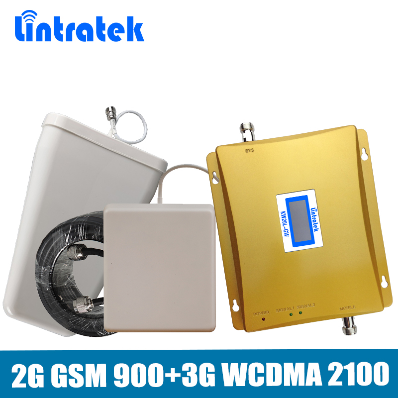 Dual Band 2G 3G Mobile Signal Repeater GSM 900mhz WCDMA 2100mhz Signal Booster