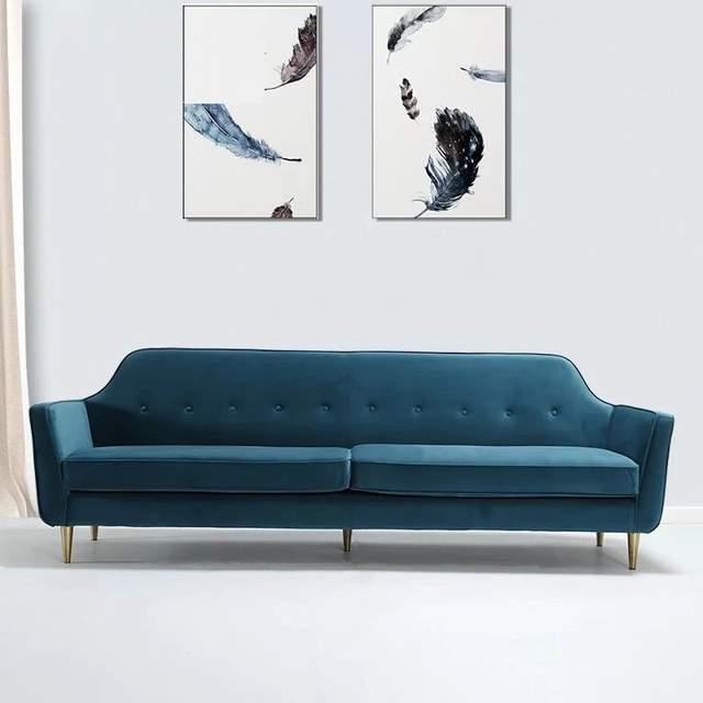 U Best Modern Fabric Studio Couch Apartment Sofa Home Furniture