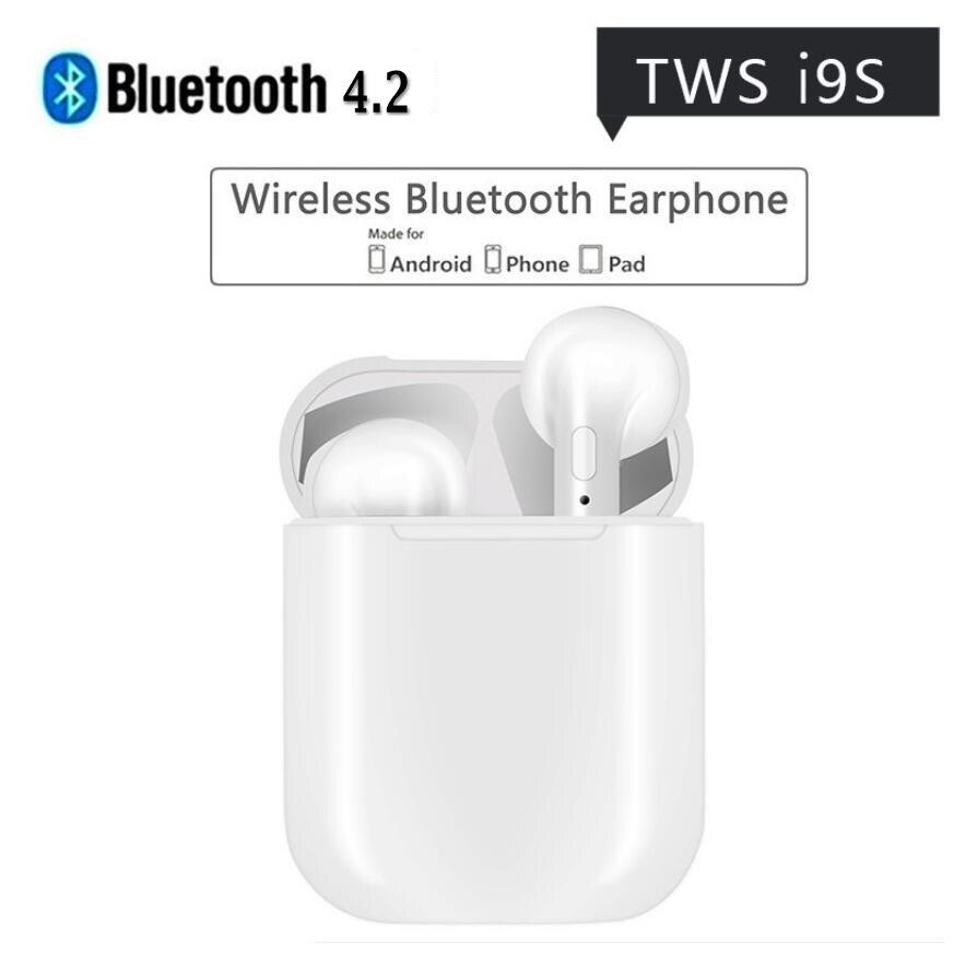 JUESSEN Auricolare Bluetooth i9s ifans Tws Mini Cuffia Senza Fili Auricolari V4.2 Stereo Con Il Mic per il iphone 6 7 8 PIÙ di X Android