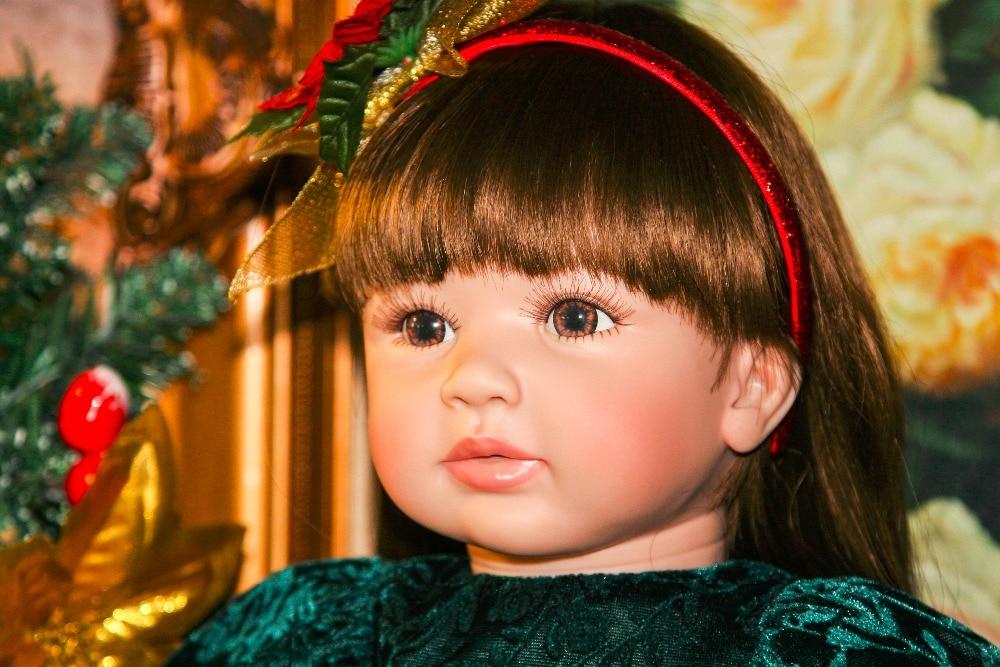 Bebes Кукла реборн 22 дюйма Новое поступление Виктории укоренившиеся коричневые волосы мальчик реалистичный ребенок ручной работы полный Сил... - 6
