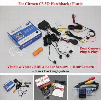 Car Rear View Back Up Sensor Reverse Camera For Citroen C3 5D Hatchback / Plurie Car Auto Alarm Parking Sensors System