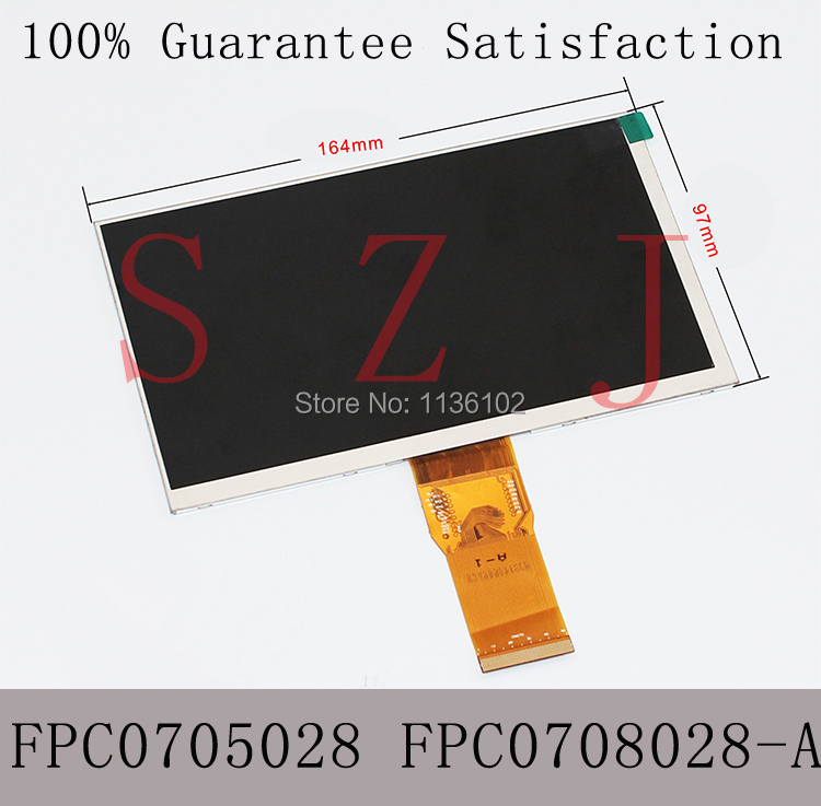 (Ref:FPC0705028 FPC0708028-A) Original 7 inch LCD Screen display Replacement for Teclast G17S tablet Free shipping 5Pcs/lot