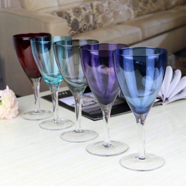 Schön Gefärbten Glas Kreative Handwerk Champagner Und Weinglas